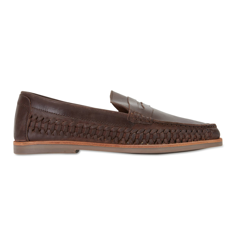 Marakesh Chocolate leather slip on shoes for men