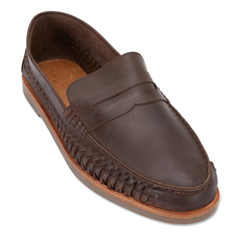 Marakesh Chocolate leather slip on shoes for men 1