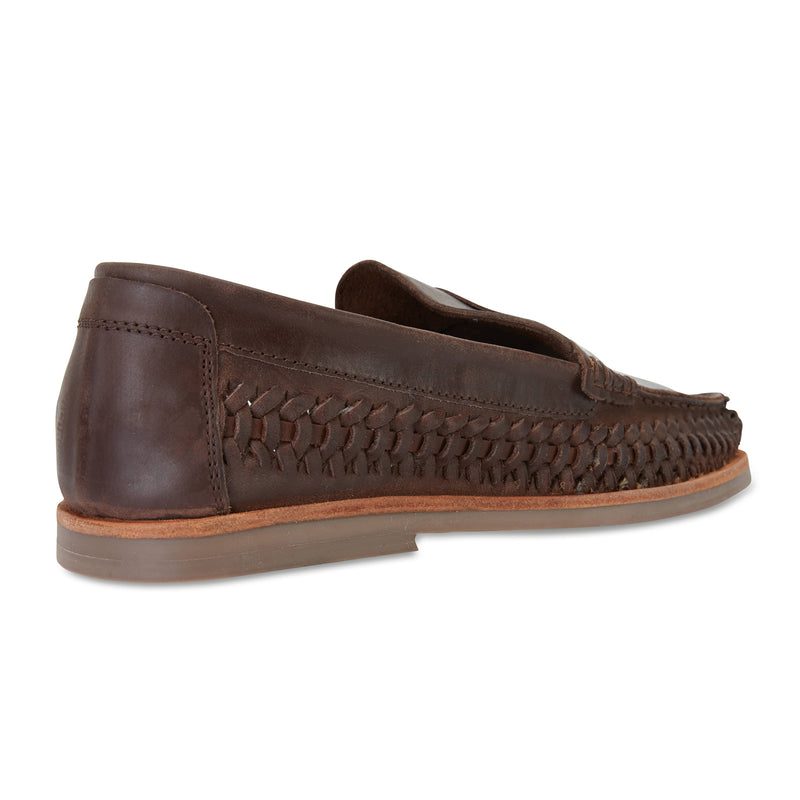 Marakesh Chocolate leather slip on shoes for men 2