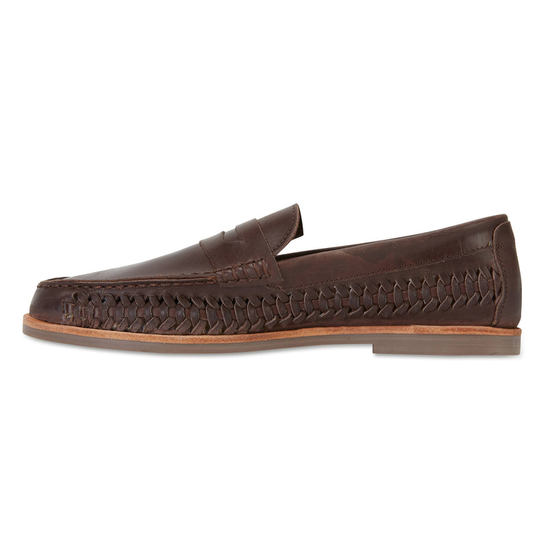 Marakesh Chocolate leather slip on shoes for men 3