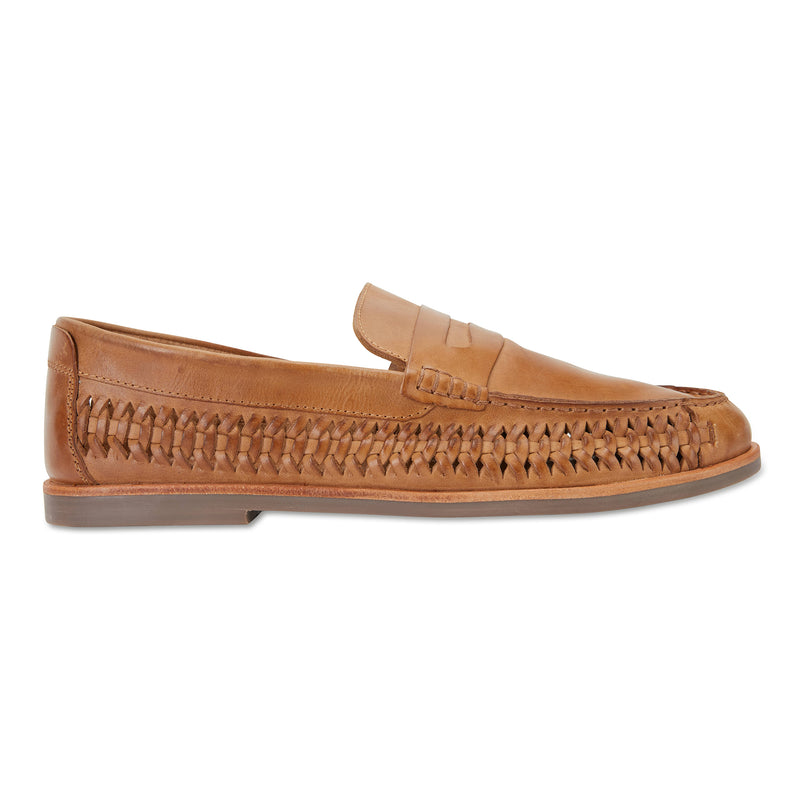Marakesh tan leather slip on shoes for men