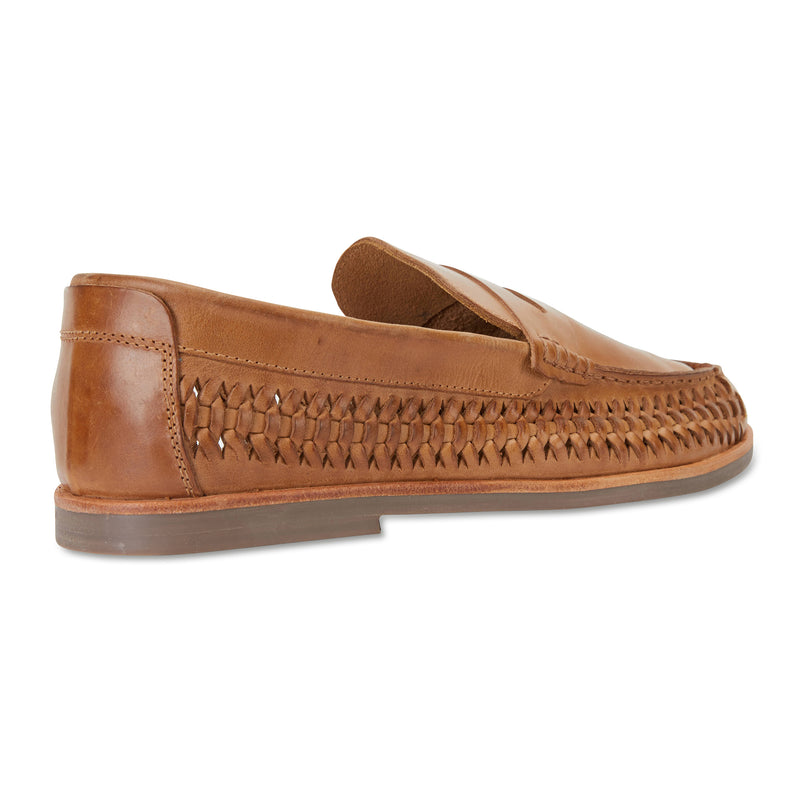 Marakesh tan leather slip on shoes for men 2