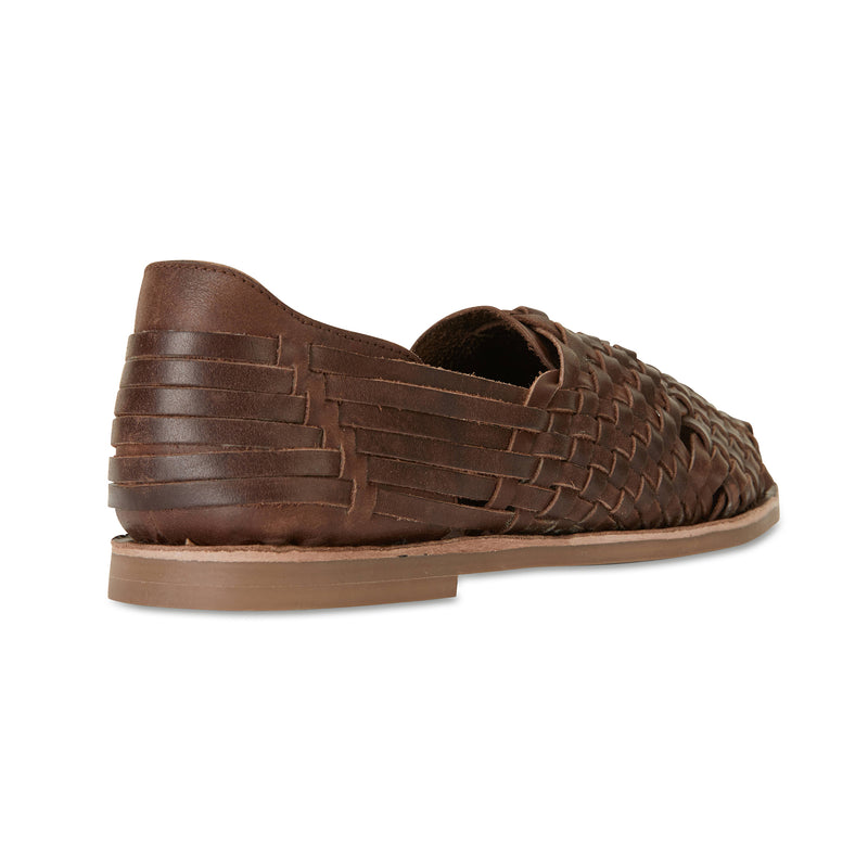 MAson chocolate woven leather slip on shoes for men 3