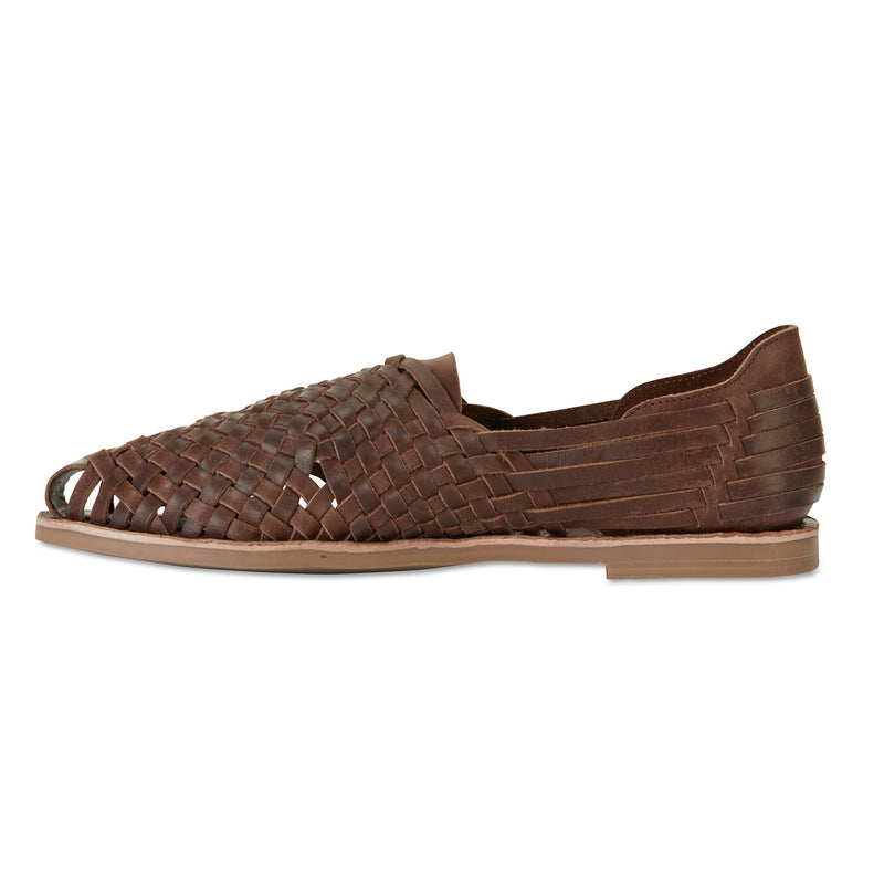 MAson chocolate woven leather slip on shoes for men 2