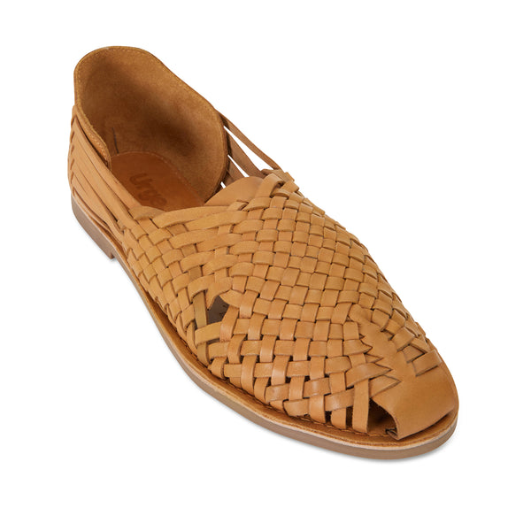 Mason tan woven leather slip on shoes for men 1