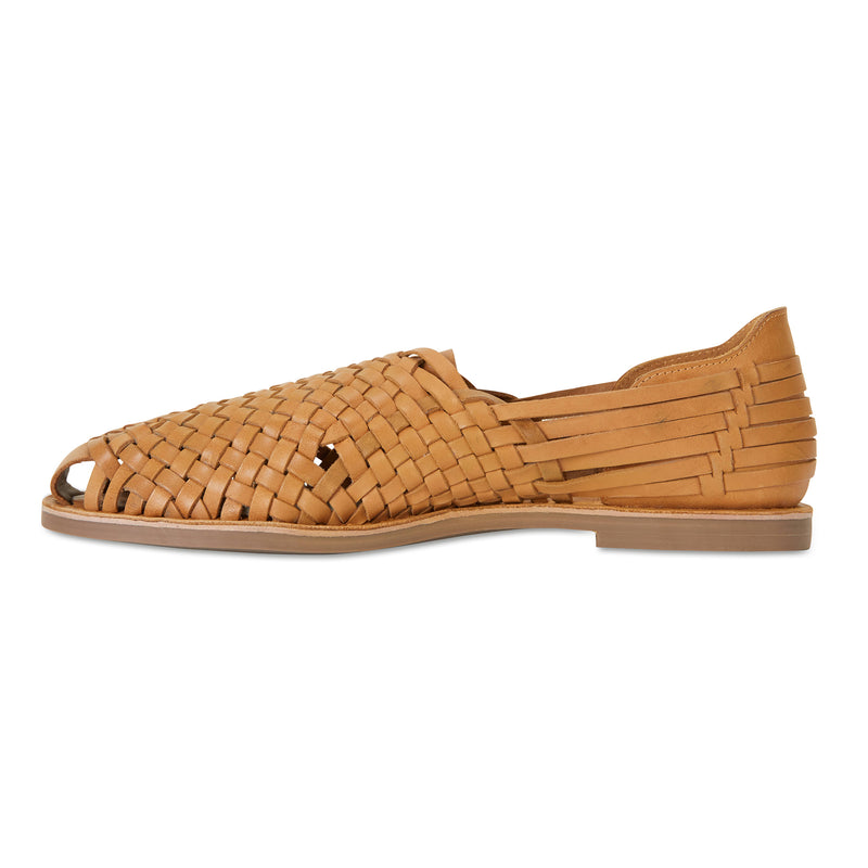 Mason tan woven leather slip on shoes for men 2