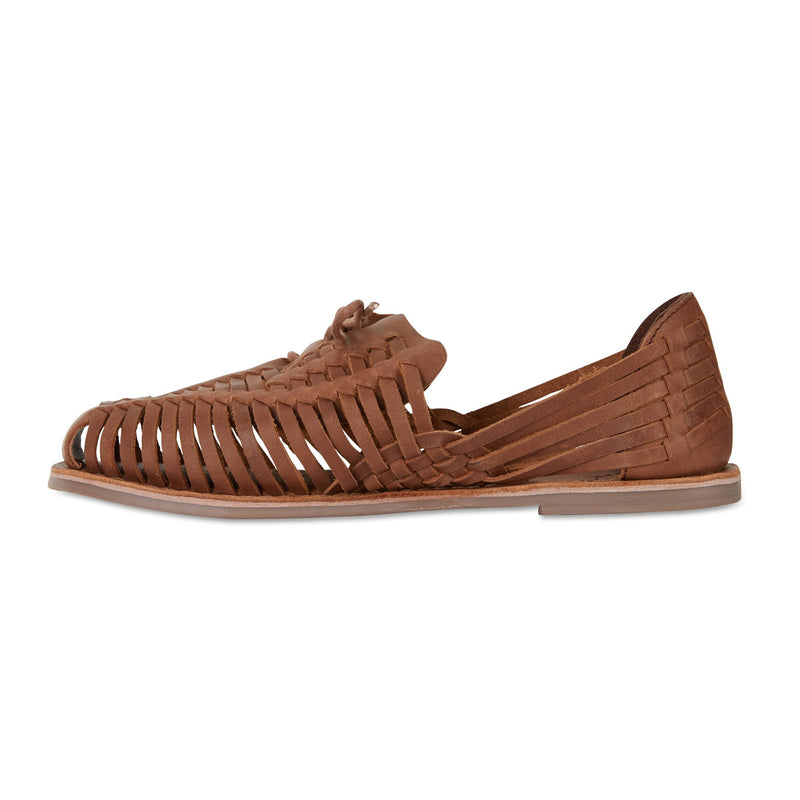 Mini mocha leather woven lace up shoes for women 3