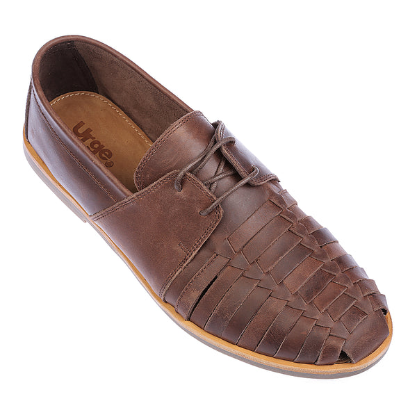 Mister dark chocolate leather lace up shoes for men 1