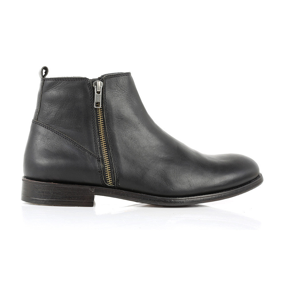 PICK UP - BLACK LEATHER ZIP BOOT