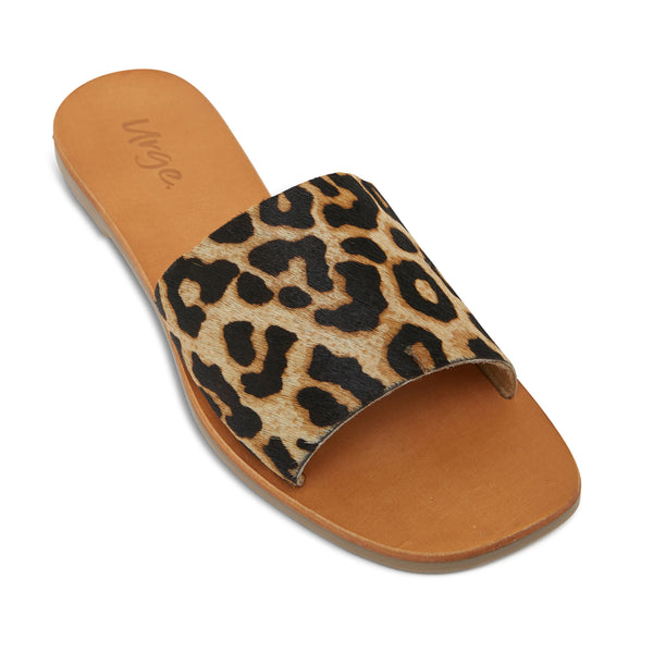 stella leopard print leather slides for women 2