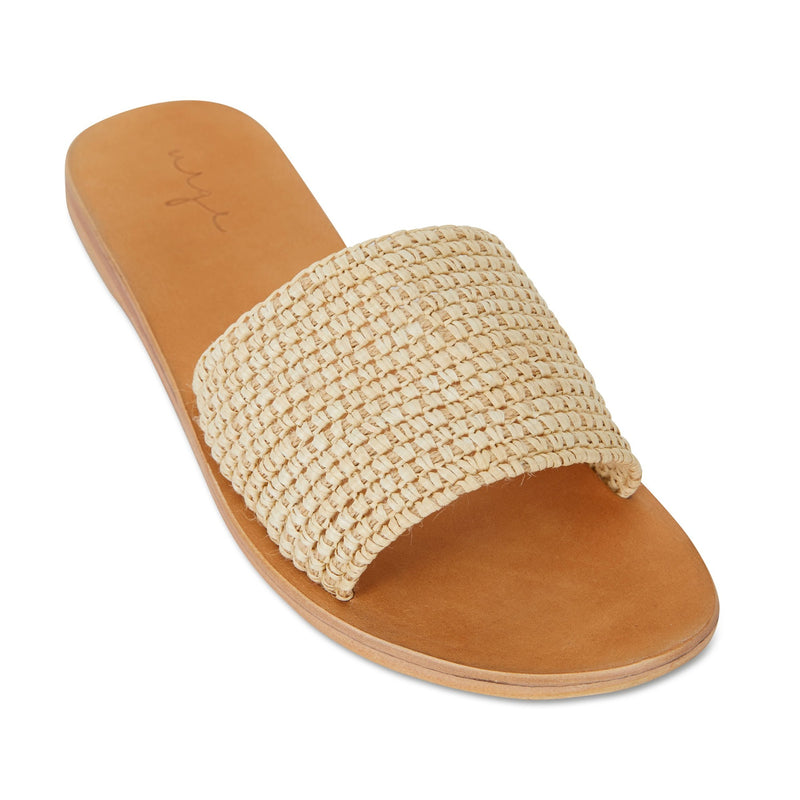 Sara natural rattan handwoven slides for women 1