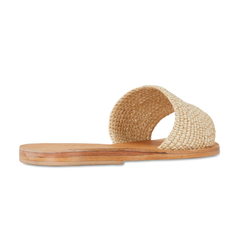 Sara natural rattan handwoven slides for women 2