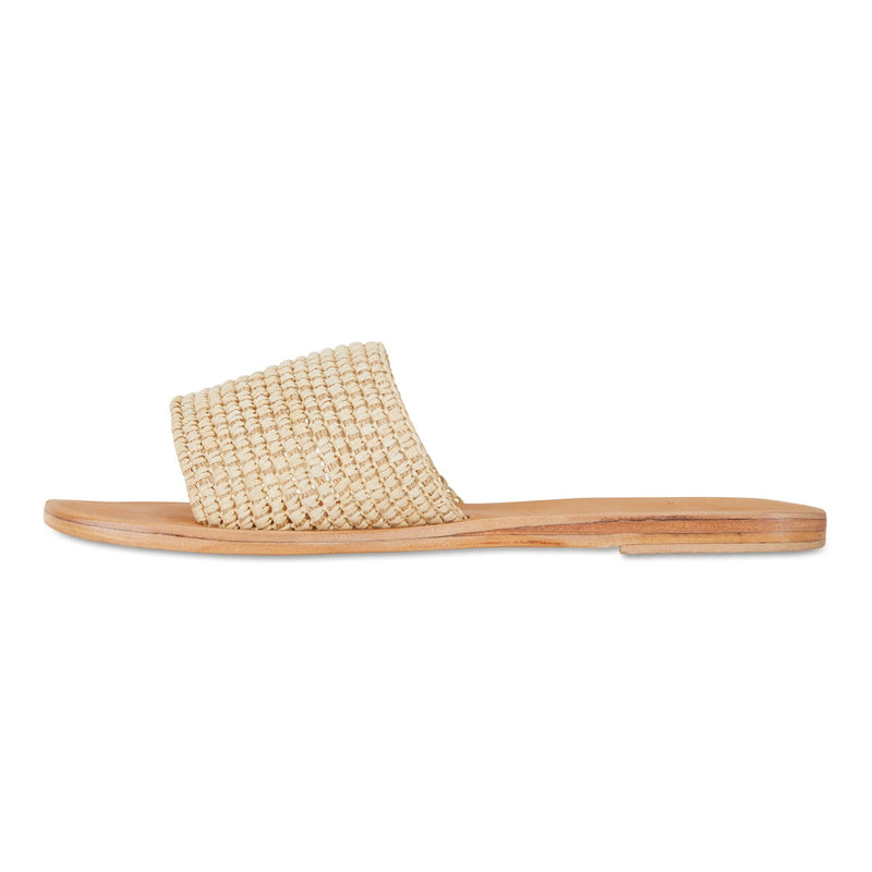 Sara natural rattan handwoven slides for women 3