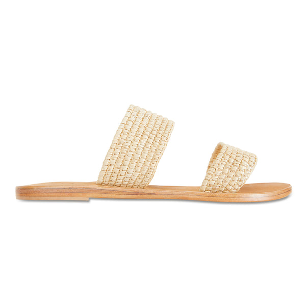 Sebu natural rattan double banded womens slides