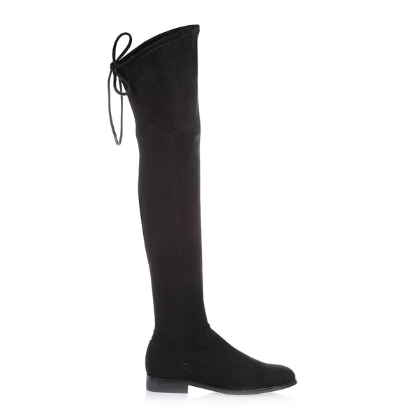 TANIA - BLACK KNEE HIGH BOOT