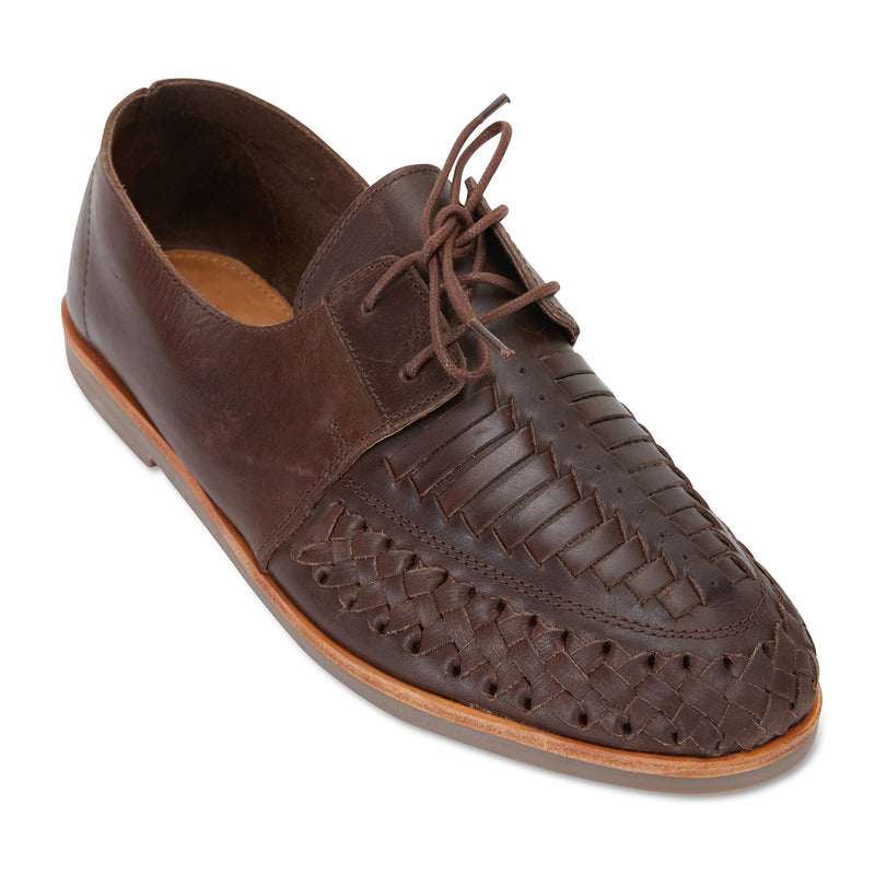Taj chocolate leather mens lace up dress shoes 1