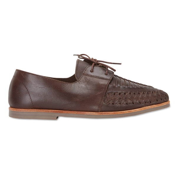 Taj chocolate leather mens lace up dress shoes