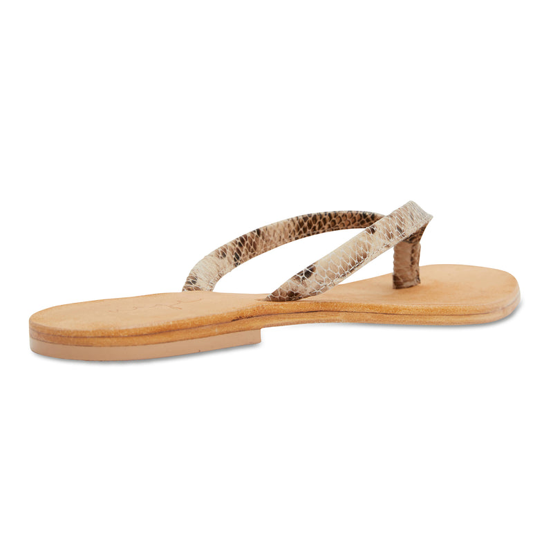 Tinah leopard pony leather thong sandals with thin straps for women 2