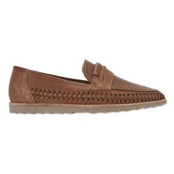 Todos espresso milled woven leather slip on shoes for men