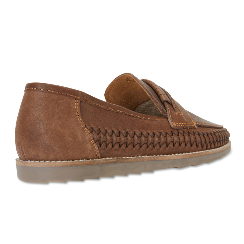 Todos espresso milled woven leather slip on shoes for men 1