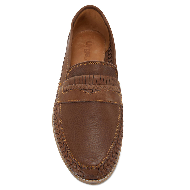 Todos espresso milled woven leather slip on shoes for men 3