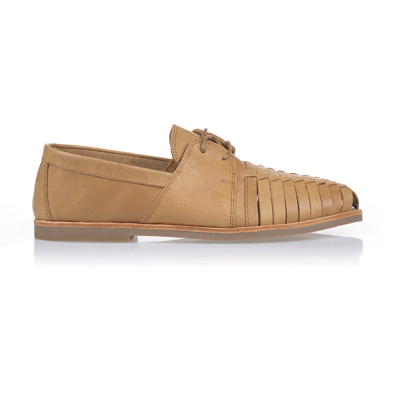 Mister tan leather lace up shoes for men