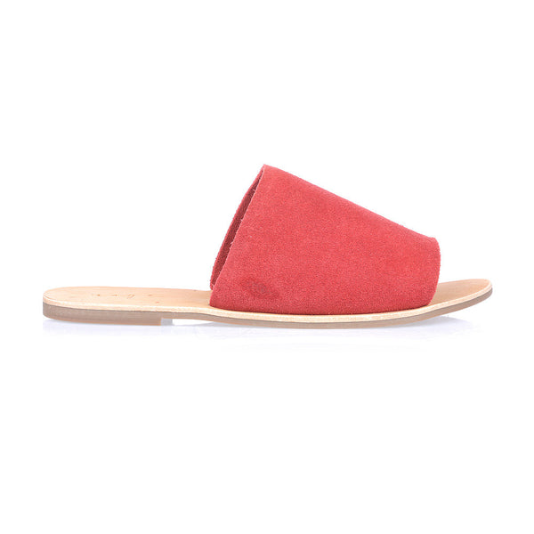 MOLLY - SCARLET RED SUEDE