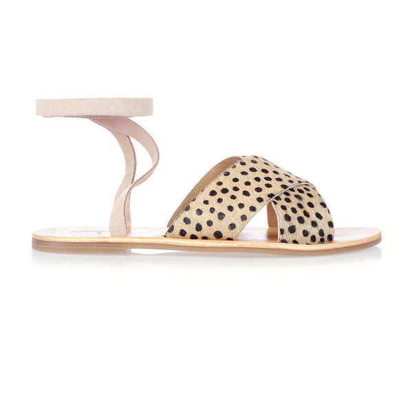 ROXY - PINK CHEETAH LACE-UP SANDAL