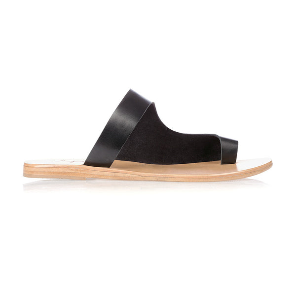 JOJO - BLACK LEATHER SANDAL
