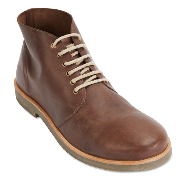Commute chocolate leather men boots 1