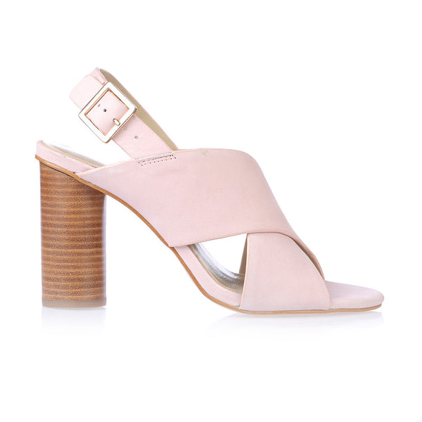 SAGE - LT PINK LEATHER HEEL