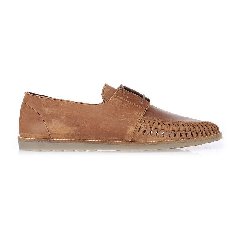 Paros III mocha oily leather lace up shoes for men