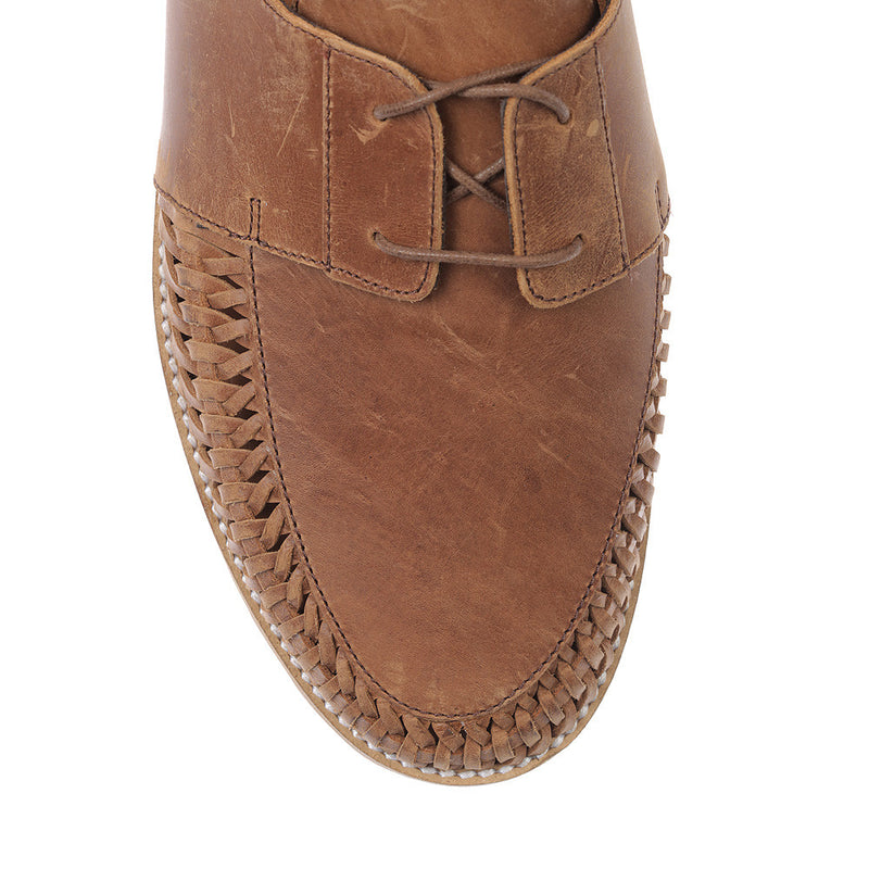 Paros III mocha oily leather lace up shoes for men 2