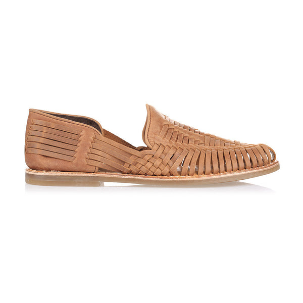 Breeze mocha leather slip shoes for men