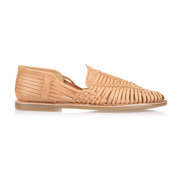 Breeze tan leather slip shoes for men
