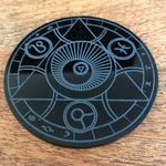 Magic circle acrylic coaster