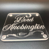 Lord Knobington and Lady cuntington coaster set