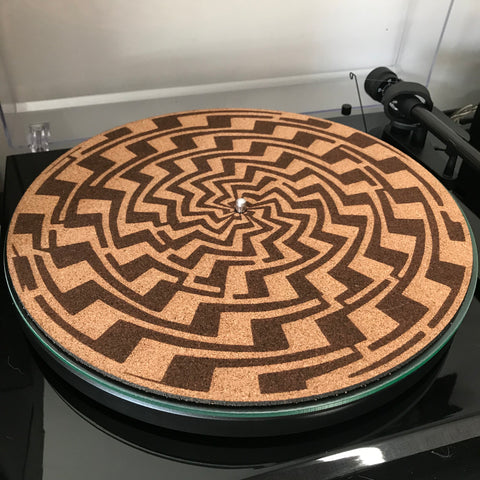 Cork Turntable slip mat - Labyrinth