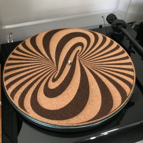 Cork Turntable slip mat - Vortex