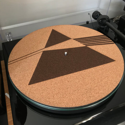 Cork Turntable slip mat - Dark side of the moon