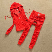 Spring /Fall 2021 women's elegant Velet Tracksuits Hoodies and pants sportswear Velour suit women suit S-XXL