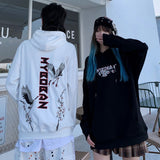 Autumn Winter Chinese Style Embroidered Unisex Hooded Pullover Hoodies Loose Leisure College Couple Sweatshirts Thick Warm Coats