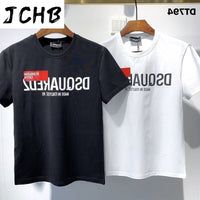 Overseas 2021 Authentic NEW T-Shirt D2 O-Neck Short tees sleeve Tops DSQ2 Men's Clothing DT794