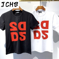 Overseas 2021 Authentic NEW T-Shirt D2 O-Neck Short tees sleeve Tops DSQ2 Men's Clothing DT553