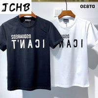 2021 Authentic Overseas NEW T-Shirt D2 O-Neck Short tees sleeve Tops DSQ2 Men's Clothing DT830