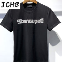 Overseas 2021 Authentic NEW T-Shirt D2 O-Neck Short tees sleeve Tops DSQ2 Men's Clothing DT593