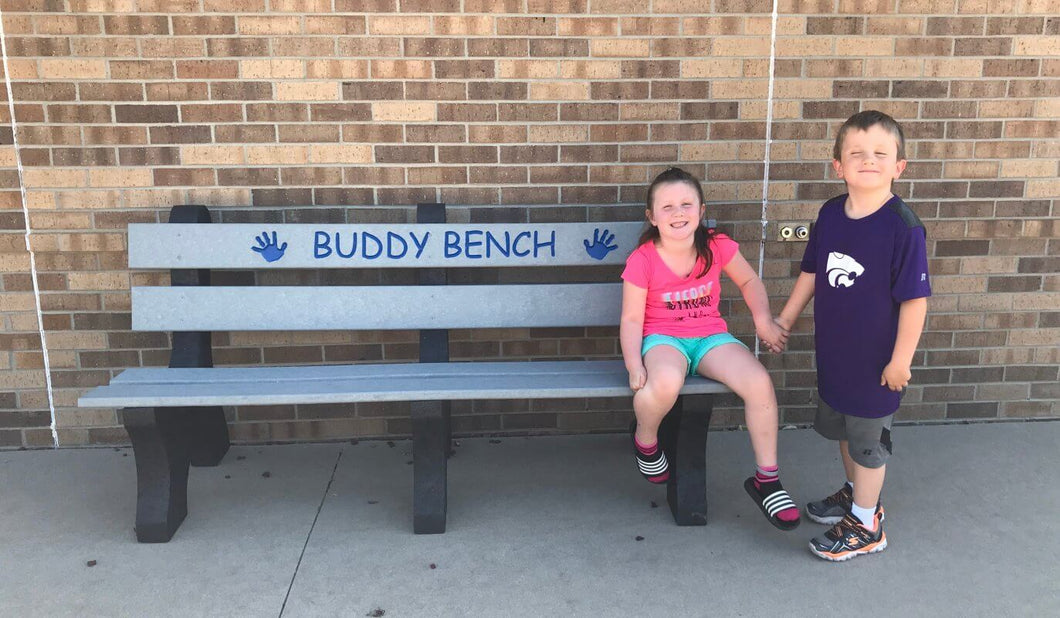 6' Recycled Buddy Bench