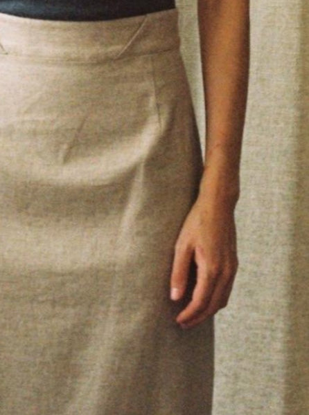 Murphy Skirt, natural, beltloop detail