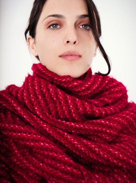 Handwoven Wrap, Red Texture