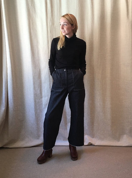 Simone Pant, Black Knit